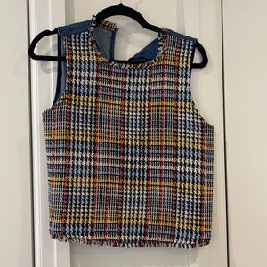 Sleeveless patterned Zara blouse
